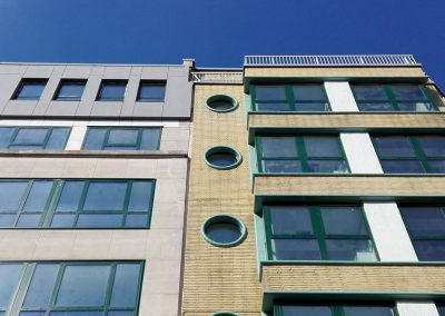 A purpose-built student accommodation building of 48 rooms in Brussels, Belgium