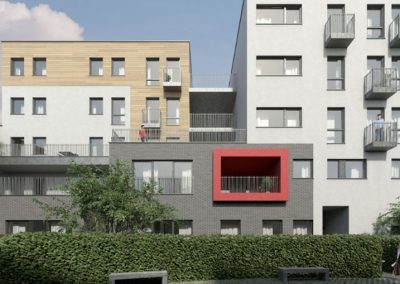 A residential building of 44 apartments in Brussels, Belgium