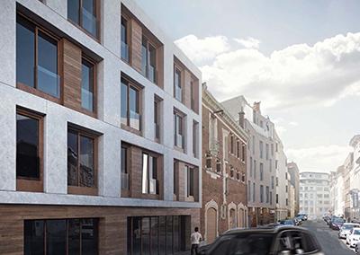 Residential building, 31 Lens Street, Brussels